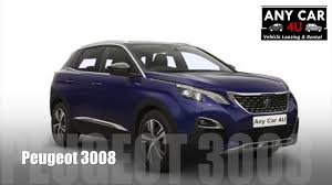 peugeot estate cars peugeot 3008 estate any car 4u contract hire call 0300 124