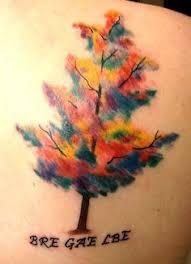 colorful tree tattoos search tats p