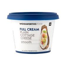 Cottage Cheese Full Cream Plain Smooth Cottage Cheese 250g Woolworths Co Za