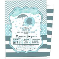 best blue chevron baby shower invitations products on wanelo