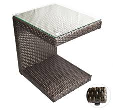 outdoor furniture side table amazing of wicker accent table kouboo bound rattan stool side table