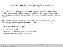 best ideas of email cover letter marketing manager about download