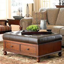 large leather tufted ottoman brown leather tufted ottoman superblackbird info