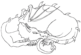 free illustration dragon coloring drawing free image