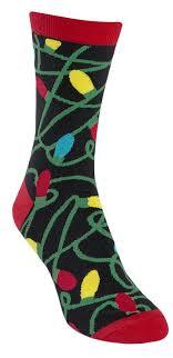 mens christmas socks tangled lights men s crew sock socks lights and crew socks