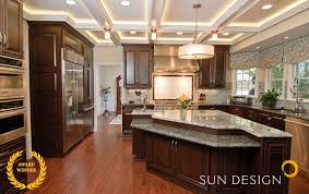 kitchen triangle design with island kitchen remodel portfolio sun design remodeling specialists inc