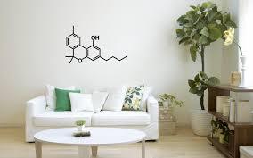 wall decor home decor home living thc molecule decal thc sticker tetrahydrocannabinol weed sticker wall sticker wall