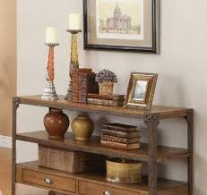 Coffee Tables With Shelves Leona Console Table Pottery Barn With Regard To Console Table With