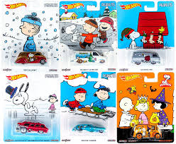 amazon com peanuts wheels charlie brown christmas 2016 set 6