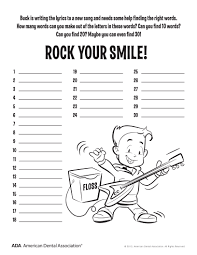 11 dental health activities u2013 puzzle fun printable personal