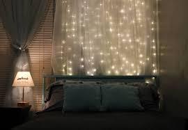diy headboard with lights 15 diy curtain headboard with christmas lights home design and