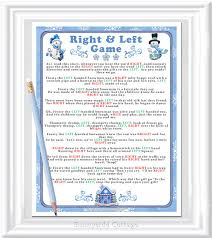 free printable bridal shower left right game winter right and left story game instant download winter or