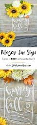 southern style thanksgiving how to make a rustic inspired mason jar sign silhouette files
