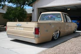 bagged nissan car hitncry 1985 nissan 720 pick up specs photos modification info