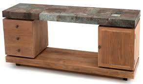 industrial style sofa table reclaimed aged metal u0026 wood