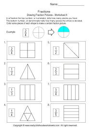 making fraction pictures worksheet 4