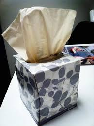 box of tissue paper a box of kleenex changes color when it s almost empty