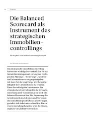 G Stige K Hen Mit Aufbau Die Balanced Scorecard Als Instrument Des Strategischen