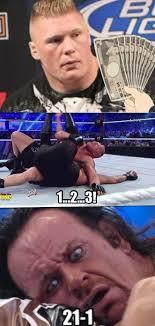 Brock Lesnar Meme - how brock lesnar really broke the undertaker s streak fistful of