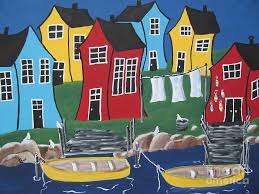 Crooked House Crooked House Bay Painting By Beverly Livingstone