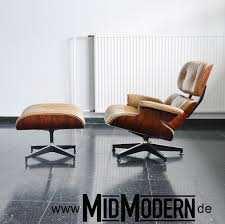 Eames Leather Lounge Chair Mid Century Modern Living Room Brown Leather Eames Lounge Chair