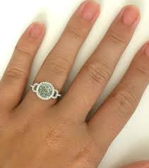 green amethyst engagement ring green amethyst ring with halo styling in 14k white