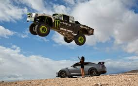watch monster truck videos watch b j baldwin jump a nissan gt r with a trophy truck