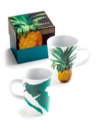 jet setter mug botanical pineapple tableware and home decor