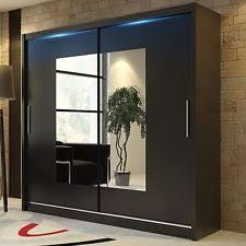 Clear Mirrored Wardrobe 2 Door Sliding Wardrobe Doors Fitted Wardrobe Doors Ebay