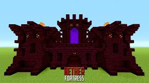 minecraft how to build a small castle tutorial nether castle
