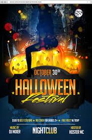 10 halloween amazing flyer free psds
