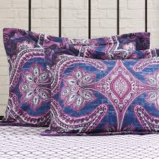 girls purple bedding mainstays grace medallion purple bed in a bag complete bedding set