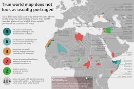 Africa Middle East Map by De Facto Independent Semi Independent And Occupied Territories In