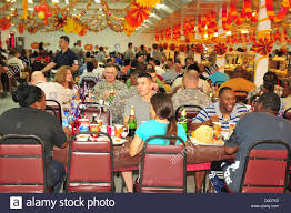 thanksgiving army service members and civilians enjoy thanksgiving dinner at the