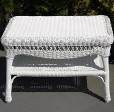 White Wicker Desk by Sahara All Weather Resin Wicker Furniture Set Cdi 001 S 4