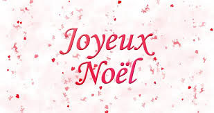 joyeux noel merry christmas greeting video french stock