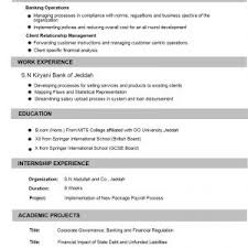 resume cv format resume sle for experienced in finance best of cv format banking