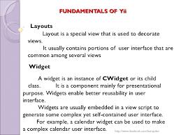 yii layout and sublayout yii php framework honey