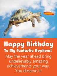 amazing turtle funny birthday card for nephew birthday