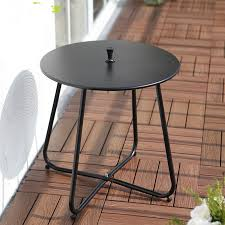 small metal outdoor end tables simple modern iron leisure coffee table small round table corner