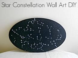 running with a glue gun star constellation wall art diy diy