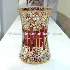 Mirrored Vases Handmade Red Mirrored Glass Mosaic Flower Tall Vases Buy Tall