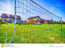 Backyard Volleyball Nets Backyard Volleyball Stock Photo Image 43179824