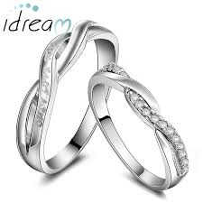 promise ring sets twisted infinity promise rings for couples only you engraved