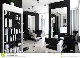 Black White Interior by Interior Of Modern Beauty Salon Stock Photography Image 30858042