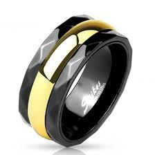 karikagyuru rak mm fekete és arany színű nemesacél karikagyűrű