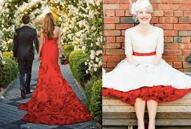 Red Wedding Dresses Non Traditional Wedding Dresses Guides For Brides