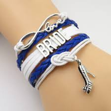 fashion infinity bracelet images Sandei fashion infinity love bridesmaid bracelet royal blue white jpg