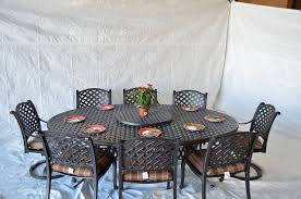 Aluminum Dining Room Chairs Dining - nassau outdoor patio 10pc set large oval dining table dark bronze