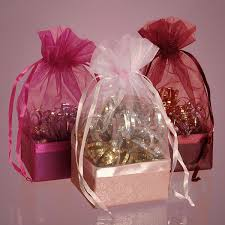 organza favor bags ribbon handle organza bag with bow